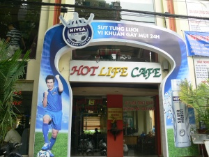 Hot Life Cafe !! - picture of a soccer player and sponsored by Nivea for Men.