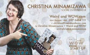2012 Weird and WOW business card for Christina Minamizawa