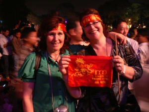 2010 Christina Minamizawa + sister Margaret in Hanoi enjoying the 1000 year celebrations